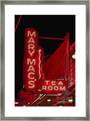 Mary Macs Resturant Atlanta Framed Print by Corky Willis Atlanta Photography