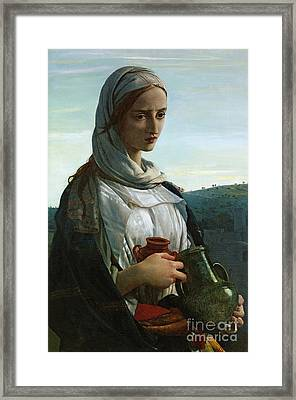 Mary Madgalen Framed Print by JR Herbert