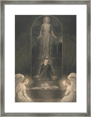 Mary Magdalen At The Sepulchre Framed Print by William Blake