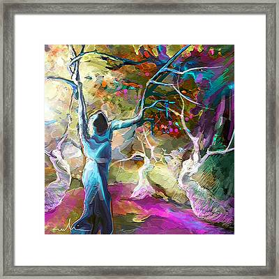 Mary Magdalene And Her Disciples Framed Print by Miki De Goodaboom