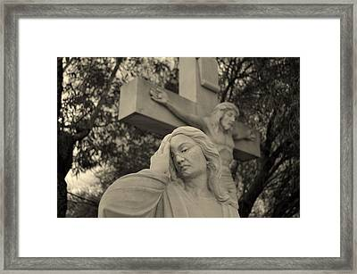 Mary Magdalene At The Crucifixion Framed Print