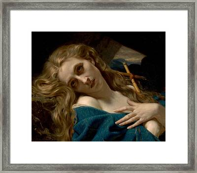 Mary Magdalene In The Cave Framed Print