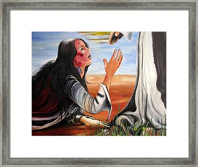 Framed Print featuring the painting Mary Magdalene by Mary Ellen Frazee