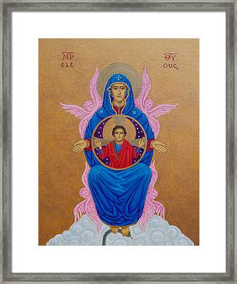 Mary Mother Of Mercy Icon - Jubilee Year Of Mercy Framed Print by Michele Myers
