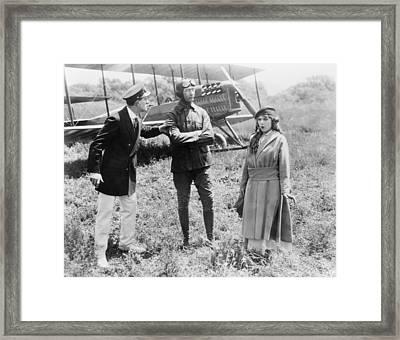 Mary Pickford And Glenn Martin Framed Print