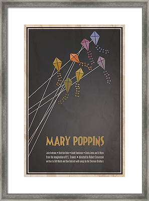 Mary Poppins Framed Print by Megan Romo