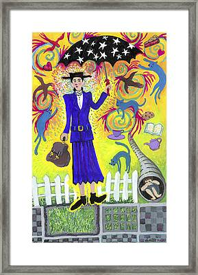 Mary Poppins Framed Print by Shoshanah Dubiner