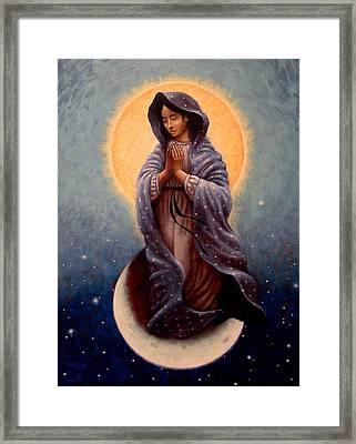 Mary Queen Of Heaven Framed Print by Timothy Jones