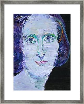 Framed Print featuring the painting Mary Shelley - Oil Portrait by Fabrizio Cassetta