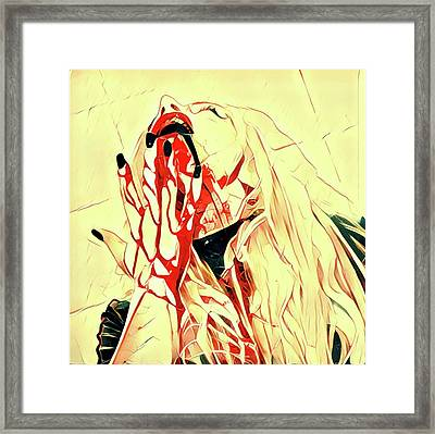 Mary The Vampire By Pierre Blanchard Framed Print