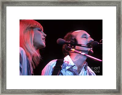 Mary Travers And Peter Yarrow Framed Print