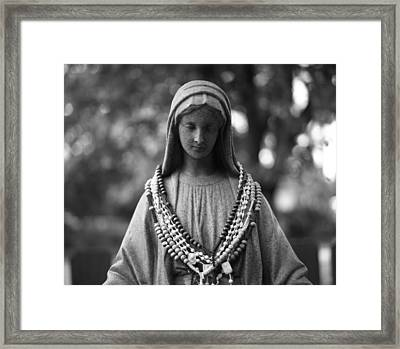 Mary With Rosaries Framed Print