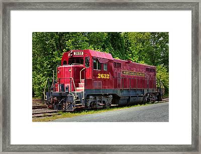 Maryland And Delaware Engine 2632 Framed Print