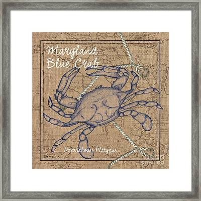 Maryland Blue Crab Framed Print by Debbie DeWitt
