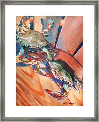Maryland Blue Crabs Framed Print