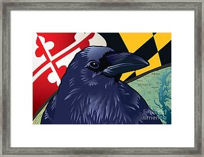 Maryland Citizen Raven Framed Print by Joe Barsin