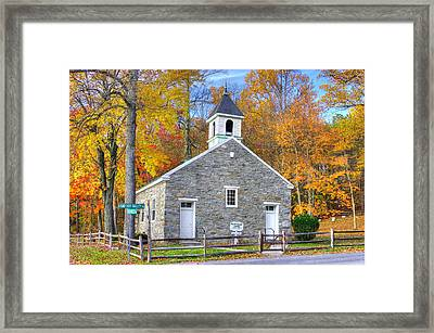 Maryland Country Churches - Eylers Valley Chapel - Built 1857 - Autumn No. 6 Frederick County Framed Print by Michael Mazaika