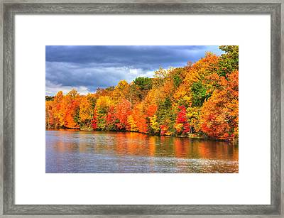 Maryland Country Roads - Autumn Colorfest No. 10 - Lake Linganore Frederick County Md Framed Print by Michael Mazaika