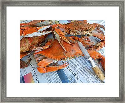 Maryland Feast Framed Print by Louise Peardon