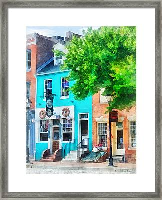 Maryland - Neighborhood Pub Fells Point Md Framed Print by Susan Savad
