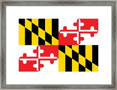 Maryland State Flag Framed Print by American School