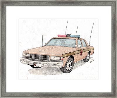 Maryland State Police Car Framed Print