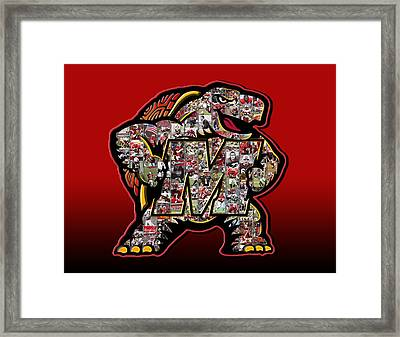 Maryland Terrapins Football Framed Print by Fairchild Art Studio
