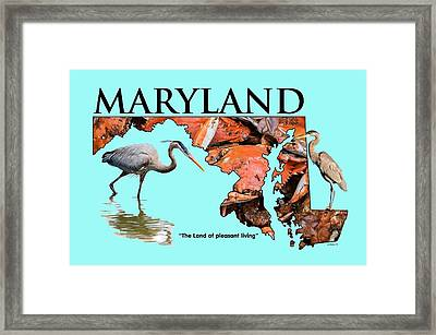 Maryland - The Land Of Pleasant Living Framed Print