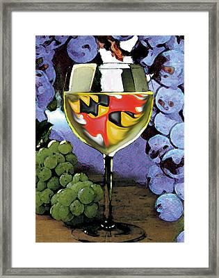 Maryland Wine Framed Print by John D Benson