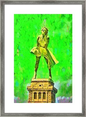 Marylin Liberty 2 - Pa Framed Print
