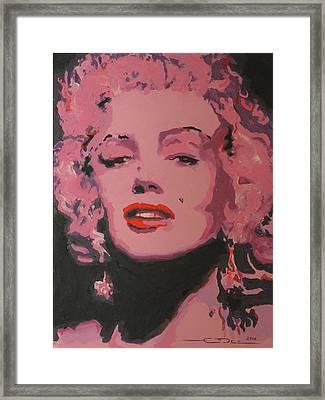 Marylin Monroe Framed Print by Eric Dee