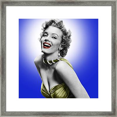 Marylin Monroe Framed Print by Hans Wolfgang Muller Leg