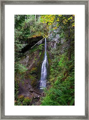 Marymere Falls Framed Print