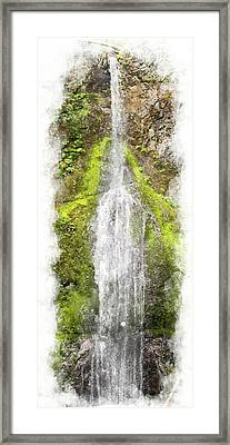 Marymere Falls Wc Framed Print by Peter J Sucy