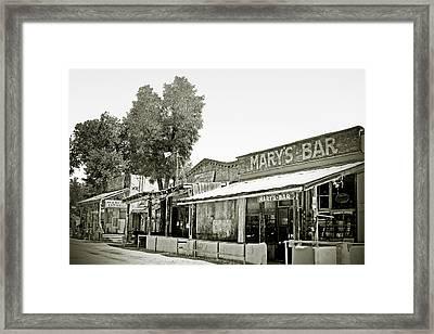 Mary's Bar Cerrillo Nm Framed Print by Christine Till