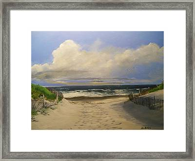 Mary's Beach Framed Print by Ken Ahlering