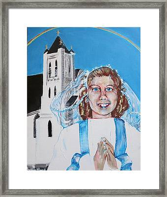 Mary's First Communion Framed Print