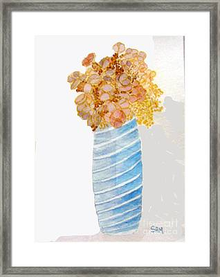Framed Print featuring the painting Mary's Flowers by Sandy McIntire