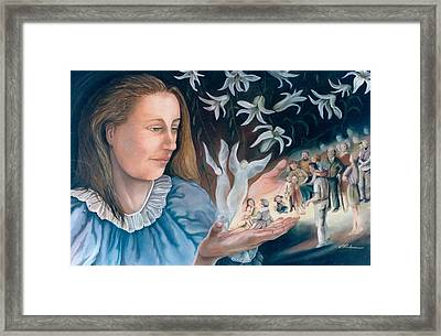 Mary's Hands - Les Mains De Marie Framed Print