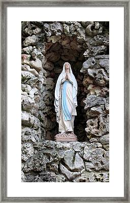 Marys Prayer Framed Print