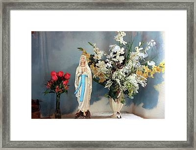 Mary's Roses Framed Print