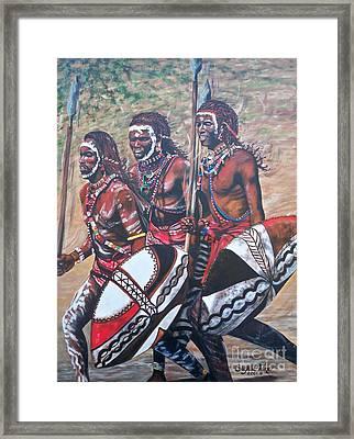 Masaai Warriors Framed Print