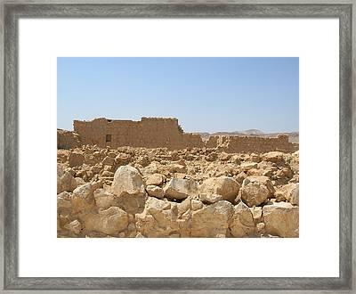 Masada II Framed Print by Susan Heller