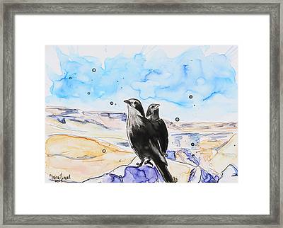 Masada Framed Print by Shaina Stinard