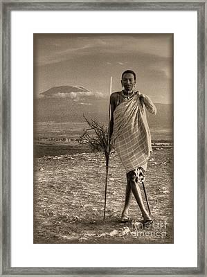 Masai Kilimanjaro Framed Print