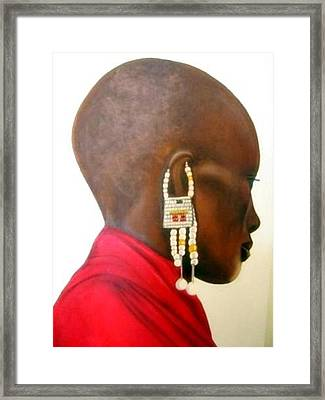 Masai Woman - Original Artwork Framed Print