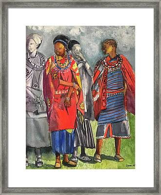 Masai Women Framed Print