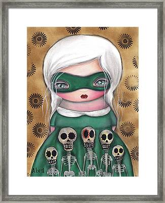 Mascara Framed Print by  Abril Andrade Griffith