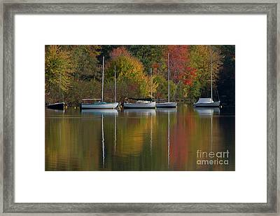 Mascoma Reflection Framed Print by Butch Lombardi