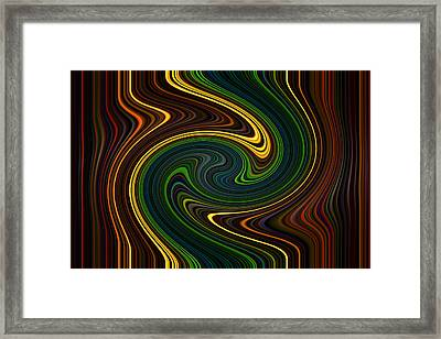 Masculine Waves Framed Print